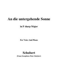 An die untergehende Sonne (To the Setting Sun), D.457 Op.44: F sharp Major by Franz Schubert