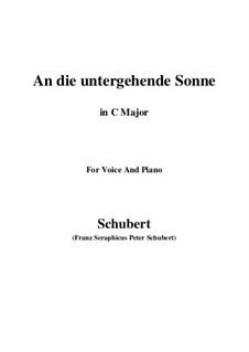 An die untergehende Sonne (To the Setting Sun), D.457 Op.44: C maior by Franz Schubert
