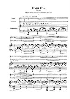 Piano Trio No.1 in D Minor, Op.63: Partitura completa by Robert Schumann