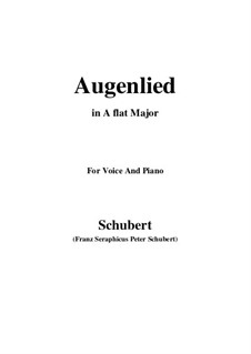 Augenlied (Song of the Eyes), D.297: A flat Major by Franz Schubert