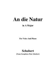 An die Natur (To Nature), D.372: A maior by Franz Schubert