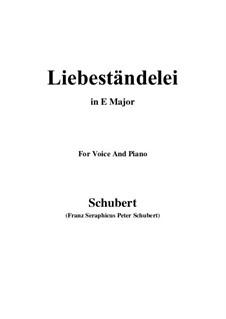 Liebeständelei, D.206: E Major by Franz Schubert