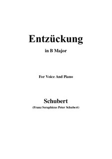 Entzückung (Rapture), D.413: B Major by Franz Schubert