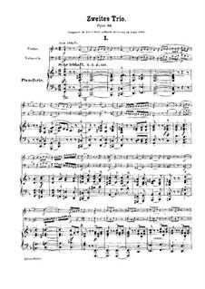 Piano Trio No.2 in F Major, Op.80: Partitura completa by Robert Schumann