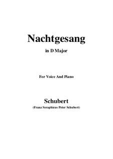 Nachtgesang (Night Song), D.119: D maior by Franz Schubert