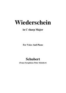 Wiederschein, D.639: C sharp Major by Franz Schubert