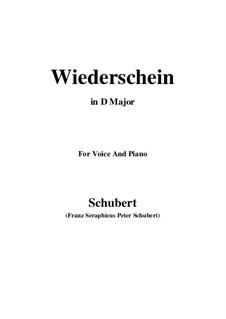 Wiederschein, D.639: D maior by Franz Schubert