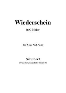 Wiederschein, D.639: G maior by Franz Schubert