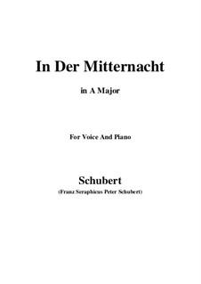 In der Mitternacht (At Midnight), D.464: A maior by Franz Schubert