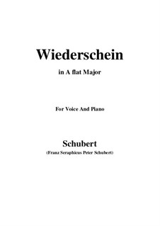 Wiederschein, D.639: A flat Major by Franz Schubert