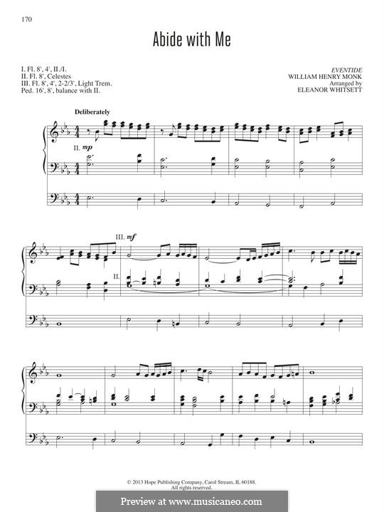 Abide with Me: para orgãos by William Henry Monk