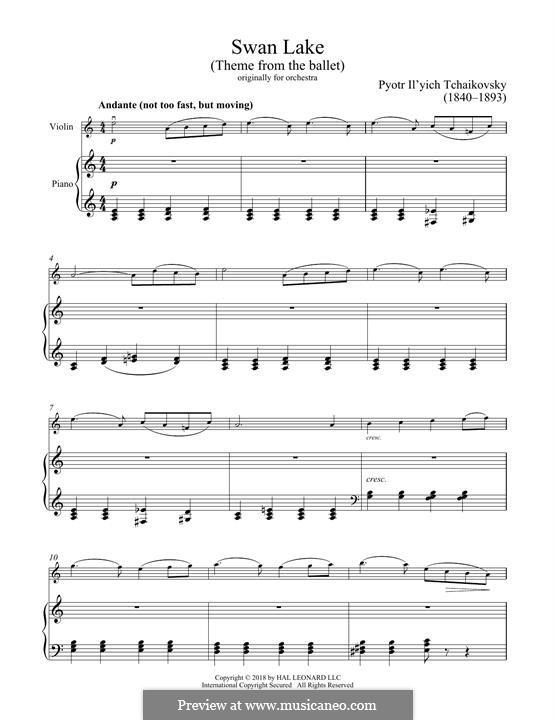 No.14 Scène: arranjo para violino e piano by Pyotr Tchaikovsky