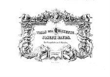 Piano Trios (Collection), Hob.XV: No.1-4. Version for piano four hands by Joseph Haydn