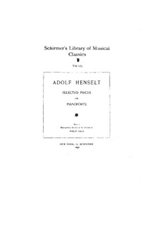 Selected Pieces for Piano: Selected Pieces for Piano by Adolf von Henselt