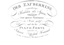 Der Zauberring oder Harlekin als Spinne, Op.46: Der Zauberring oder Harlekin als Spinne by Johann Nepomuk Hummel