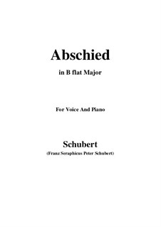 Abschied (Farewel), D.475: B flat Maior by Franz Schubert
