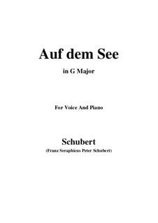 Auf dem See, D.543 Op.92 No.2: G maior by Franz Schubert