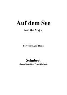 Auf dem See, D.543 Op.92 No.2: G flat Major by Franz Schubert