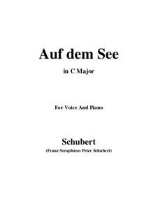Auf dem See, D.543 Op.92 No.2: C maior by Franz Schubert