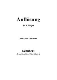 Auflösung (Dissolution), D.807: A maior by Franz Schubert