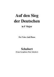 Auf den Sieg der Deutschen, D.81: F Maior by Franz Schubert