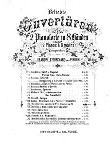 Leonore. Overture No.3, Op.72b: versão para dois pianos de oito mãos  - piano parte II by Ludwig van Beethoven