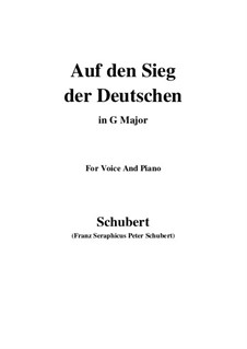 Auf den Sieg der Deutschen, D.81: G maior by Franz Schubert