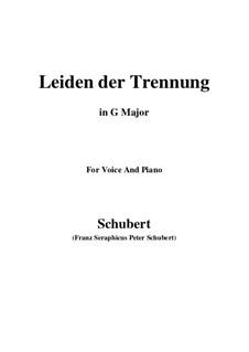 Leiden der Trennung (The Sorrow of Separation), D.509: G maior by Franz Schubert