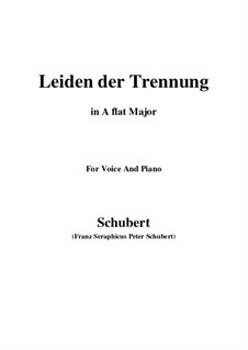 Leiden der Trennung (The Sorrow of Separation), D.509: A flat Major by Franz Schubert