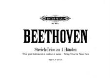 Three Trios, Op.3, 8, 25: arranjos para pianos de quatro mãos - partes by Ludwig van Beethoven