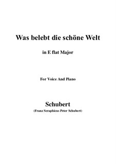 Die Zauberharfe (The Magic Harp), D.644: Was belebt die schöne Welt (E flat Major) by Franz Schubert