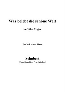Die Zauberharfe (The Magic Harp), D.644: Was belebt die schöne Welt (G flat Major) by Franz Schubert