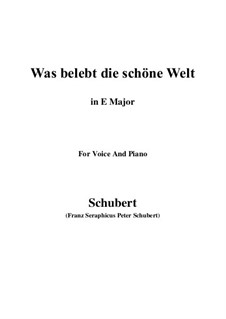 Die Zauberharfe (The Magic Harp), D.644: Was belebt die schöne Welt (E Major) by Franz Schubert