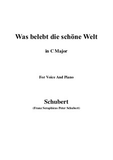 Die Zauberharfe (The Magic Harp), D.644: Was belebt die schöne Welt (C Major) by Franz Schubert