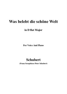 Die Zauberharfe (The Magic Harp), D.644: Was belebt die schöne Welt (D flat Major) by Franz Schubert
