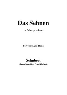 Das Sehnen (Longing), D.231 Op.172 No.4: F sharp minor by Franz Schubert
