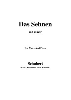 Das Sehnen (Longing), D.231 Op.172 No.4: F minor by Franz Schubert
