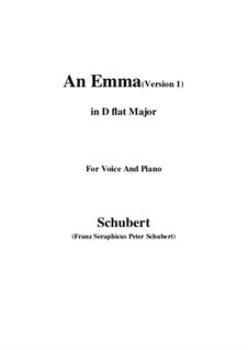 An Emma, D.113 Op.58 No.2: First edition (D flat Major) by Franz Schubert