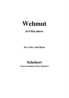 Wehmut (Melancholy), D.772 Op.22 No.2: B flat minor by Franz Schubert