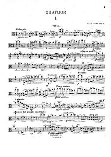 Piano Quartet in A Minor, Op.31: parte viola by Georgy Catoire