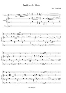 Mother's Prayer: For violin, cello and piano by folklore
