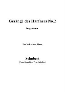 No.2 Wer nie sein Brot mit Tränen ass: G minor by Franz Schubert