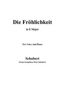 Die Fröhlichkeit, D.262: F Maior by Franz Schubert