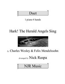 For piano: Version four hands (advanced) by Felix Mendelssohn-Bartholdy