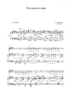 Six Romances, TH 107 Op.63: No.2 I Opened the Window (E Major) by Pyotr Tchaikovsky
