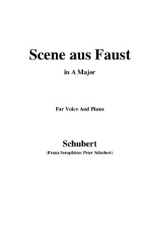 Scene from 'Faust', D.126: A maior by Franz Schubert