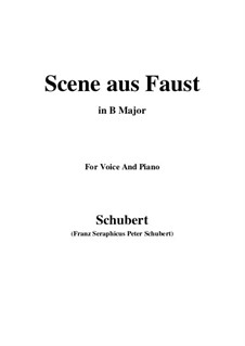 Scene from 'Faust', D.126: B Major by Franz Schubert