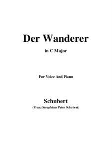 The Wanderer, D.649 Op.65 No.2: C maior by Franz Schubert