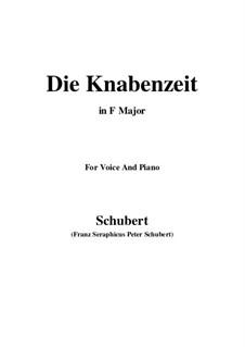 Die Knabenzeit (Boyhood), D.400: F Maior by Franz Schubert