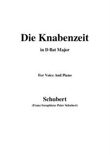 Die Knabenzeit (Boyhood), D.400: D flat Major by Franz Schubert